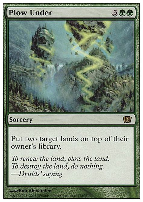Mtg Legacy Decks Tapped Out by Plow 8ed Mtg Card