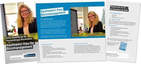 S Janina Flyer Kaufmann Kauffrau Für Büromanagement Thyssenkrupp
