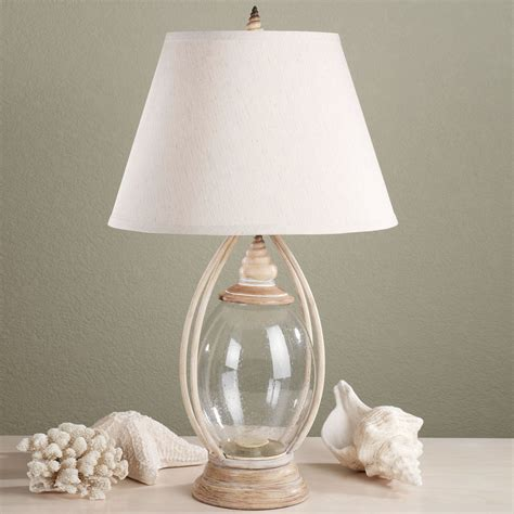 Lamp With Shells In Base sea treasures fillable glass table lamp