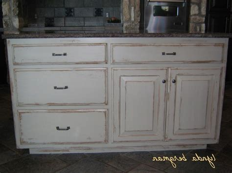 distressed wood cabinet finishes