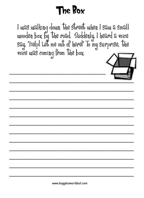 esl creative writing worksheets writing writing