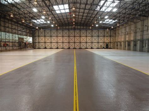 Helicopter aircraft hangar resin flooring   ACL Industrial