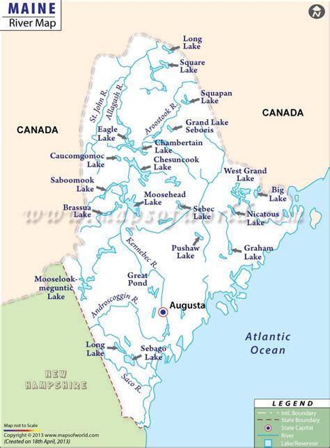 rivers  maine usa maps maine map saco river
