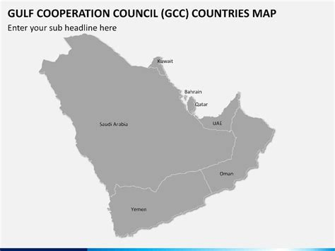 gulf cooperation council gcc map powerpoint sketchbubble