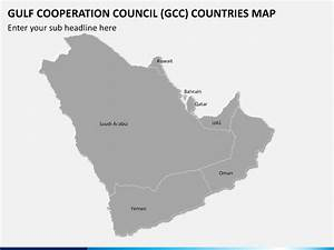 Gulf Cooperation Council  Gcc  Map Powerpoint