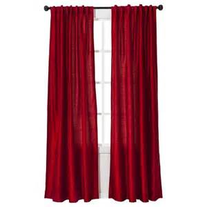 threshold faux silk curtain panel target