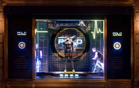 ralph lauren creates holographic  interactive window