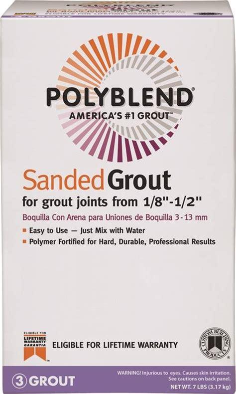 polyblend pbg097 4 sanded tile grout 7 lb box no 9