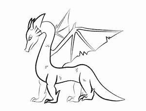 Dragon Outline Drawing - Bing images