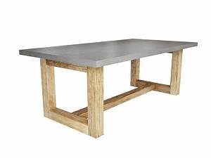 Hand Crafted Zen Wood Dining Table by Trueform Concrete