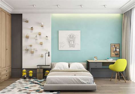 a pair of modern homes with distinctively bright color