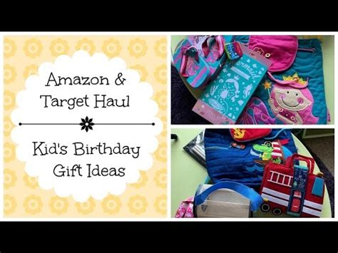 Amazon Target Haul Kids Birthday Gift Ideas Stephen Joseph39s Back Packs Youtube