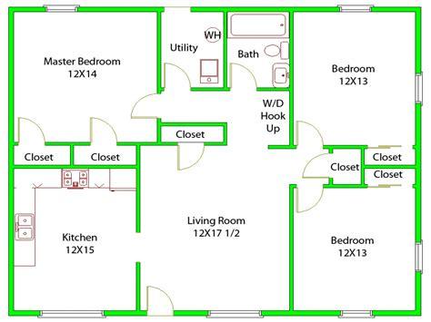 3 Bedroom House Layouts 3 Bedroom House Floor Plans 40x40