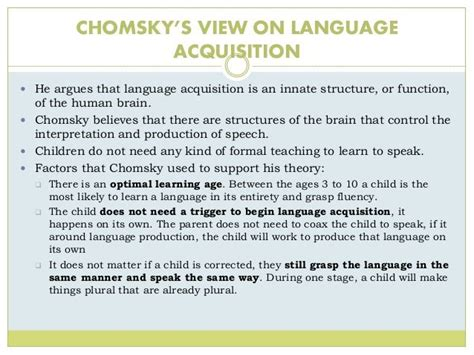 chomskys  skinners theory  language acquisition