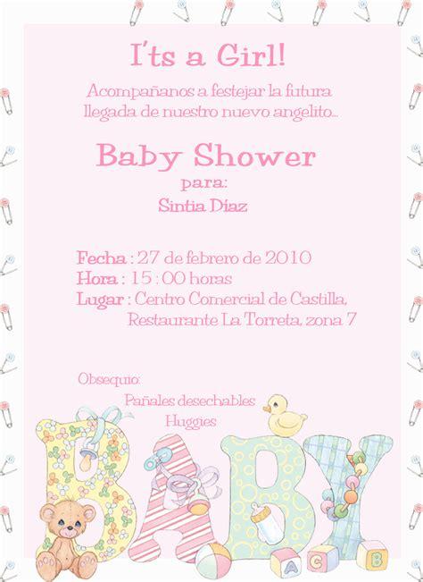 Invitaciones Baby Shower Niña Andrea Blog