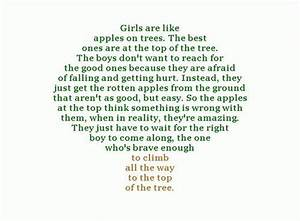 apple, boys, girls , life, love, quote - image #74536 on ...