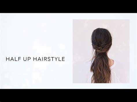diy half up half down hair tutorial wedding hairstyles from once wed youtube
