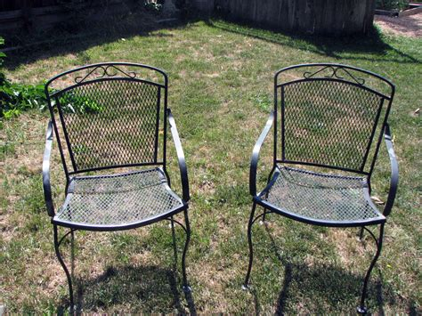Old School Metal Patio Chairs Patio Chair How To Refinish