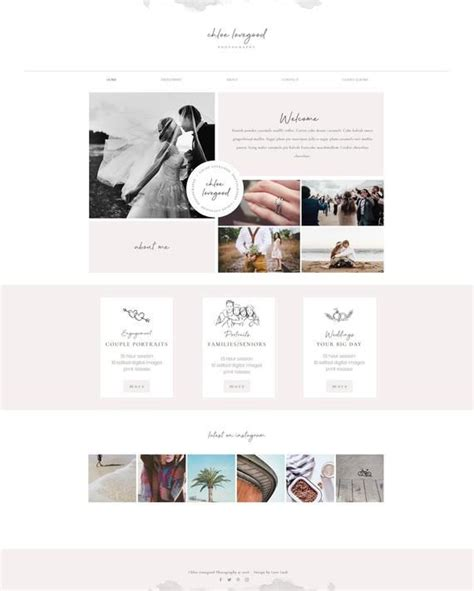 wix website template  photography photographer