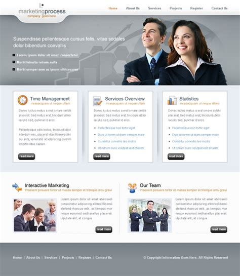 business clean website template  business