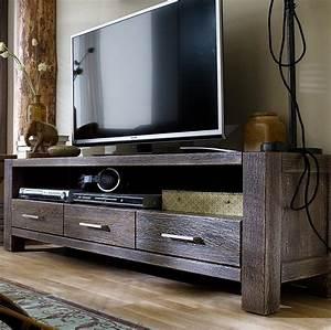 Eiche Massiv Möbel : tv board anrichte lowboard eiche massiv sandgestrahlt kolonial africa style kaufen bei saku ~ Orissabook.com Haus und Dekorationen