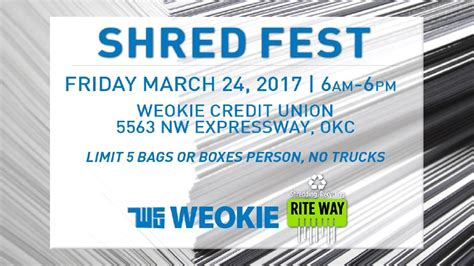home fox 25 and weokie credit union team up for shred 2017 Weokie