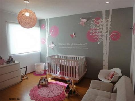chambre bébé fille et gris décoration chambre bebe fille et gris