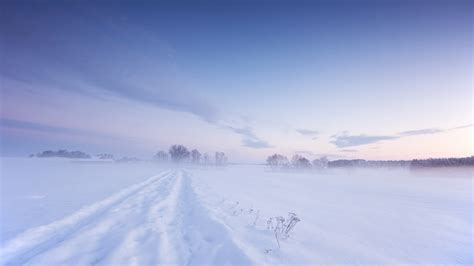 Full Hd Wallpaper Snow Field Cloud Road, Desktop