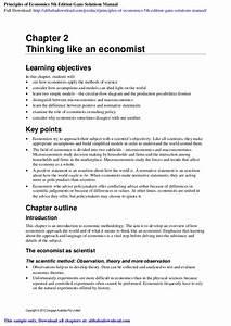 Principles Of Economics 5th Edition Gans Solutions Manual
