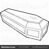 Coffin Clipart Casket Template Illustration Lal Perera Royalty Sketch Rf Coloring Pages sketch template