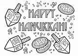 Coloring Hanukkah Pages Happy Chanukah Printable December Sheets Drawing Fun Colouring Dreidel Menorah Preschool Adult Symbols Adults Activity Crafts Getcoloringpages sketch template