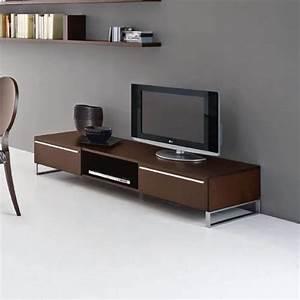 Table Pour Tv : table basse bois pour tv ~ Teatrodelosmanantiales.com Idées de Décoration