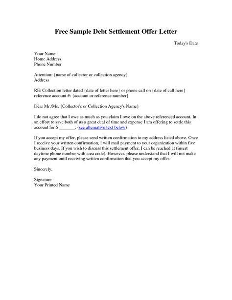 legal settlement offer letter template examples letter