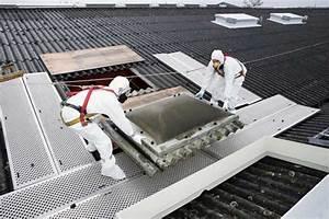Désenfumage amiante, remplacement/rénovation exutoire toiture fibres ciment, rénovation toiture