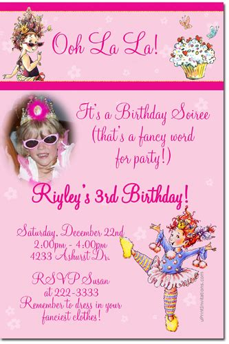 fancy nancy birthday invitations candy wrappers