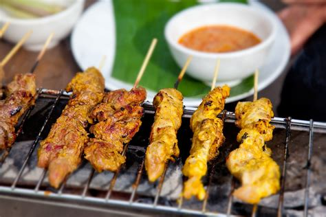 cuisine snack satay chicken recipes food safari sbs food