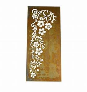 Spannbettlaken 80 X 180 : rost sichtschutz paravent bl tenrausch freistehend aufstellbar h he 180 cm breite 80 cm ~ Eleganceandgraceweddings.com Haus und Dekorationen