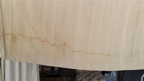Cleaning Drapes - cleaning linen drapes stained with water and clean linen