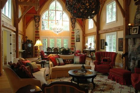 english country cottage traditional living room