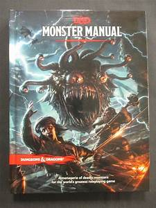 Oej D U0026d Dungeons And Dragons 5th Edition 5e Monster Manual