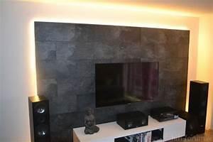 Steinwand Wohnzimmer Tv : idee tv wand aus laminat zuk nftige projekt in 2018 pinterest tv wand wohnzimmer und w nde ~ Bigdaddyawards.com Haus und Dekorationen