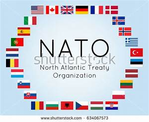Vector Illustration Nato Countries Flags 28 Stock Vector ...