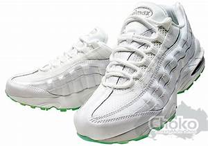 nike air max 95 white green