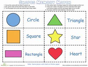 shape  color match game color worksheets