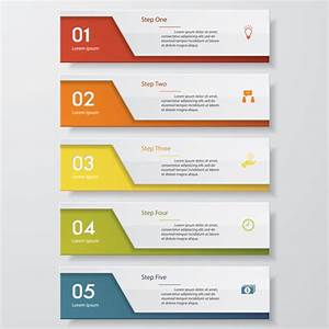 Numbered Banners Modern Template Vector 01
