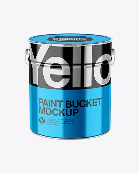 This free mockup is for personal use only. Matte Paint Bucket Mockup - High-Angle Shot - Glossy Paint ...