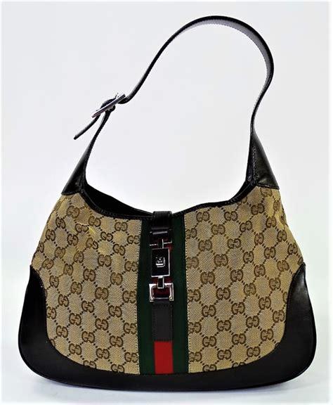 sold price vintage gucci jackie  monogram canvas hobo bag june    pm edt