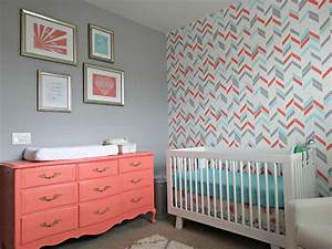 noelle39s coral aqua and gray nursery with gold accents With couleur beige peinture murale 11 papier peint jaune et gris
