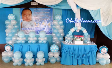 how to decorate a place christening packages cebu balloons and supplies