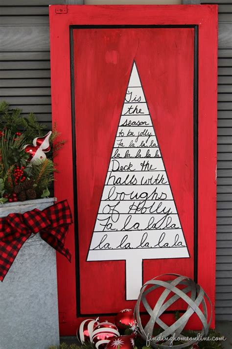 outdoor christmas decorating sharpie art tree sign